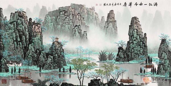 古松之韵——品赏吴大恺青绿山水画中的自然洒脱